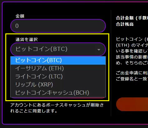 インターカジノ_出金ビットコイン2