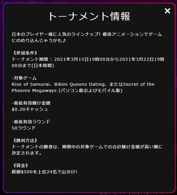 インターカジノ_トーナメント情報1