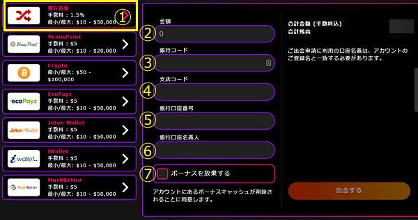 インターカジノ_出金銀行送金1