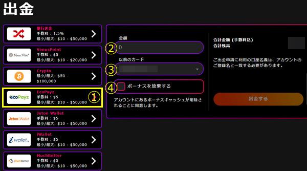 インターカジノ_出金エコペイズ1