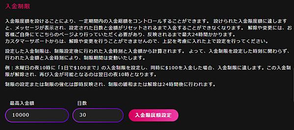 インターカジノ_入金限度額2